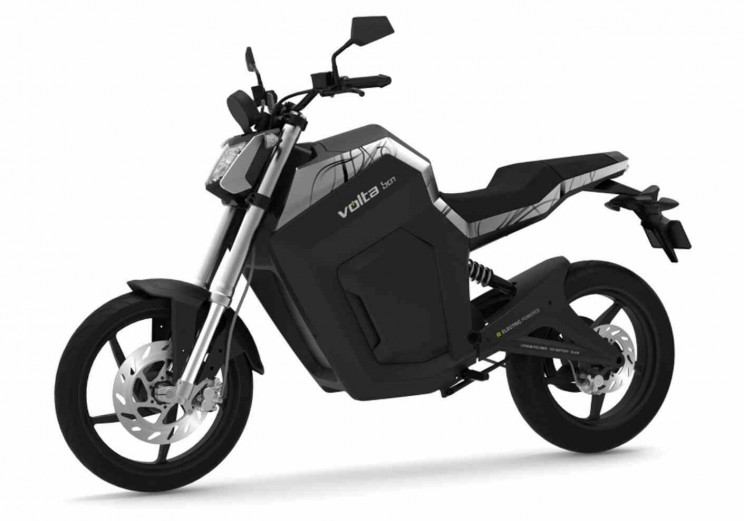 volta electric motorbike black