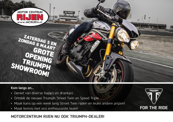 MC Rijen nu ook Triumph dealer