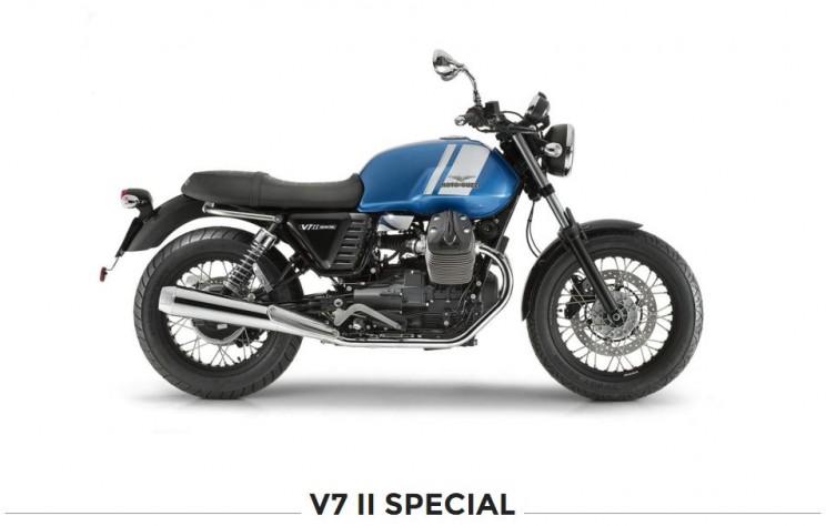 moto guzzi v7 special blauw