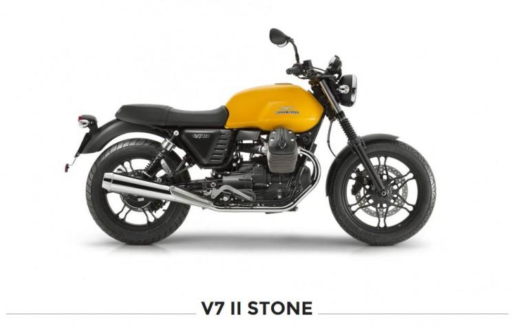 moto guzzi v7 stone geel