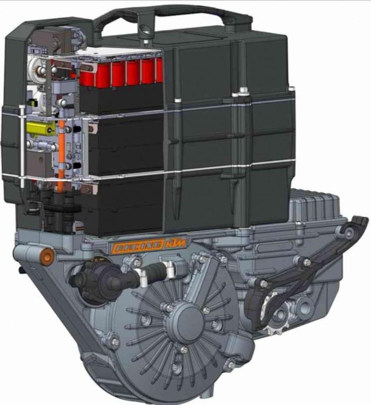 KTM Freeride E-serie 2016 powerpack open