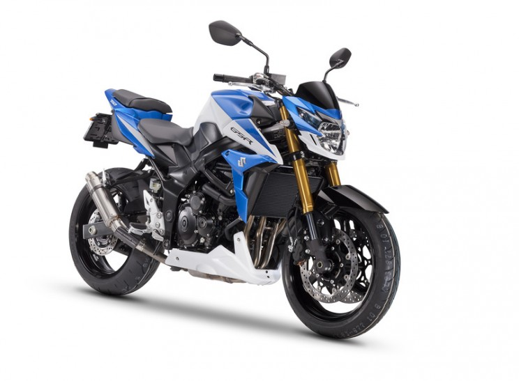 suzuki GSR750 street extreme blauw