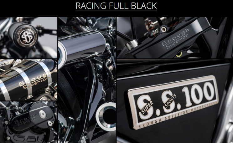Brough Superior SS100 Racing full black new (11)