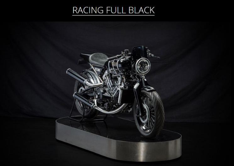 Brough Superior SS100 Racing full black new (5)